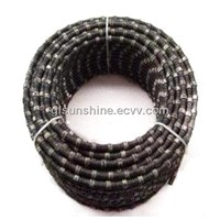 China 10.5mm 40beads Rubber and Spring Diamond Cutting Wire Saw for Concrete