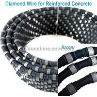 China Diamond tools wire saw for Construction Concrete Cut  11mm 40 beads