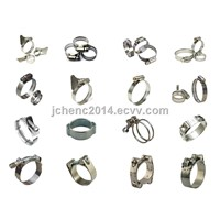 Different type of American hose clamp