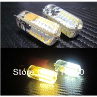 Dimmable G4 led Crystal light 3014 chip 48 led non-polar Silicon lamp 2.5W DC 12V 360 Degree
