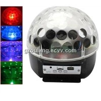 Disco Party DMX512 Crystal Magic Ball Stage 12W RGB Light