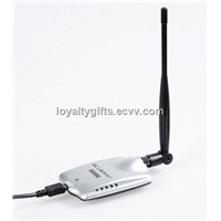 High Power 54Mbps WiFi 18000G USB Lan Adapter With Antenna 6DBI Directional dish IEEE 802.11b/g/n