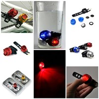 Hot!! Fashiong bicycle warning lights diamond ruby rear light