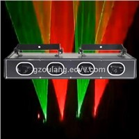 Hot Mini Laser Stage Lighting Four Head RGB or RGBY or RGB+UV Color Laser/Blue Laser Light