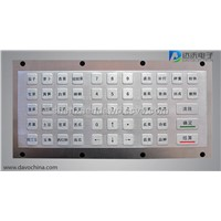 Industrial Metal PC Keyboard D-8604