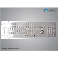 Industrial Metal PC Keyboard with trackball D-8605