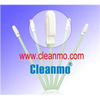 Light green handle polyester cleaning swab