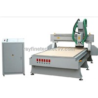 MDF wood cutting machine CNC router machine with dust collector and vacuum absorption system