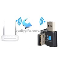 Mini Black 300M ACK USB2.0 WiFi Wireless Network Card Adapter