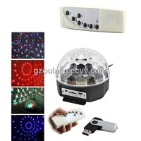 Multi color magic LED ball light MP3,Radio,Bluetooth,Remote control,USB port cheap