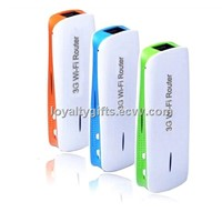 New 2014 Hot Sale 150Mbps 3G WIFI Mobile Wireless USB Router Hotspot 1800mAh Charger RJ45