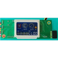 PC case fan controller board with LCD display