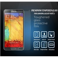 Premium Shatter-Resistant Samsung Galaxy Note 3 Note3Tempered Glass Screen Protector Film