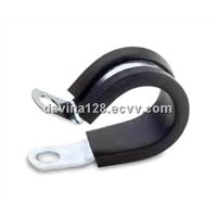 Rubber lined hose clamp