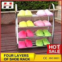 Stainless steel home use shoes rack