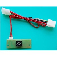 Temperature detect and display with LED