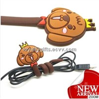 factory soft pvc cartoon cable winder