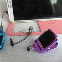 multi function mobile phone accessories: holder, stylus, cleaner, handsfree plug