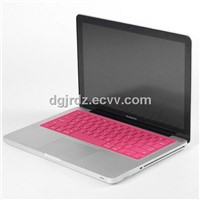 red silicone keyboard cover skins protector for Macbook Pro