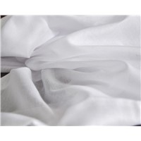 spun polyester voile grey fabric