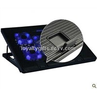 wholesale computer peripherals Gifts notebook radiator base with 5 fans cooling rack cooling pad