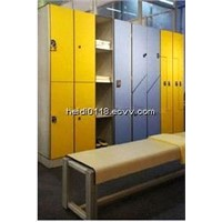 Wateproof L Shape Changing Room Storage Locker with Bench