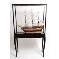 Display Case with Legs For Wooden Model Ship