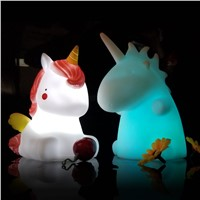 Novelty Unicorn Colorful Night Light Little Pony Mini Led Lamps Kids Toys Christmas Gift Home Decor