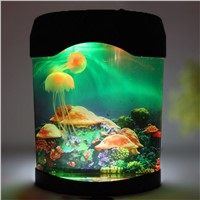 LED Night Lights Multicolor LED Light Jellyfish Tank Sea World Swimming Mood Lamp Night Light Aquarium Nightlight Decor Light
