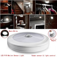 PIR Motion Sensor Magnetic  Infrared LED Night Light Auto On/Off Indoor/Outdoor Passageway Stairway Wardrobe Home Battery Power
