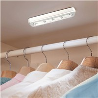 5 LED Night Light Push Touch Tap Night Light Kitchen Closet Under Cabinet Wardrobe Night Lamp Self-Stick