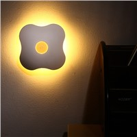 Night Light Luminaria Floral Night Lights Human Body Auto Motion Baby Night Light Lamp Wall LED NEW Sensor Four Leaf Clover