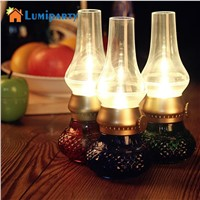 Lumiparty Nightlight Retro Blowing Control LED Kerosene Lamp USB Rechargeable Flameless Candle Lantern with Dimmer Control Key