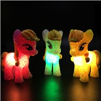 1 PC Cartoon My Little Pony Color Changing LED Night Light Colorful Gradients Table Lamp for Kids Toys Christmas Holiday Gift