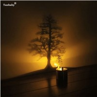 Tanbaby LED Shadow Projection NightLight Romantic Atmosphere Candle Small Lamp Fantasia Infantil Lava Lamp Chidren Birthday Gift