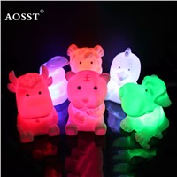 1pcs Fashion Colorful Chinese Zodiac Animal Lamp LED Colorful gradient Small Night Lamp sleep light Children light-up toys Gift