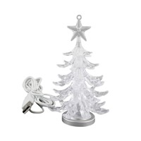 USB LED Night Light Crystal Christmas Tree Room Home Decor Table Decoration