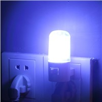 1pc Bedroom Night Light Lamp US Plug 1W 4 LED AC Plug Wall Mounting Energy Saving