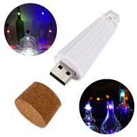 Cork Shaped Wine Bottle Light Rechargeable USB Night Light Cork Stopper Lamp Creative Romantic Lights for Home Party Decor