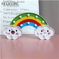DELICORE LED Rainbow Colorful Night Light Batteries Powered Decorative Lights Baby Bedside Lamp Children Toy S191