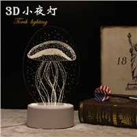 LED Night Light 3D Table Lamp Plug-in Feeding Baby Bedroom Light Birthday Gift Light