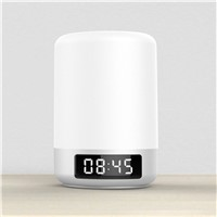Multifunction 5W Smart Touch Wireless Bluetooth Speaker Music Clock LED Bedside Lamp Dimmable Colorful Night Light