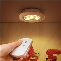 Wireless Remote Light LED Creative Battery Lamp for Wardrobe Bedside Cabinet Decorative Mini Style Lighting Lamps Warm White