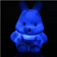 1pcs Fashion Colorful Rabbit Small Night Lamp LED Colorful gradient Small Night Lamp sleep light Children light-up toys Gift