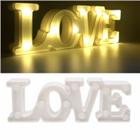 Led Night Light  LOVE Sign 3D Figure Night Lamps Light LED Nightlight Desk Night Lamp For Kids Gift Decoration Warm White