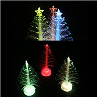Hot Sale Colorful LED Fiber Optic Nightlight Christmas Tree Lamp Light Children Xmas