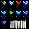Boruit 10pcs Birthday Candle Lights LED 12 Color Party Wedding Christmas New Year Home Decor Light Wireless Remote Night Lights