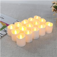 12PCS Flameless Mini LED Candle Flicker Light Lamp Flashing Candle Yellow Tea Light For Wedding Birthday Christmas Decoration
