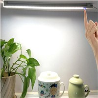 LED Touch Sensor Light Kitchen Cabinet Lamp Wardrobe Closet Bookshelf White USB Lamp With Touch Switch