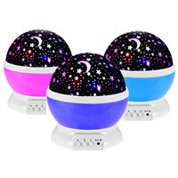 Novelty Starry Star USB Nightlight For Children Baby Projection Flashing Moon Sky Star Projector Luminaria Night Light Projector